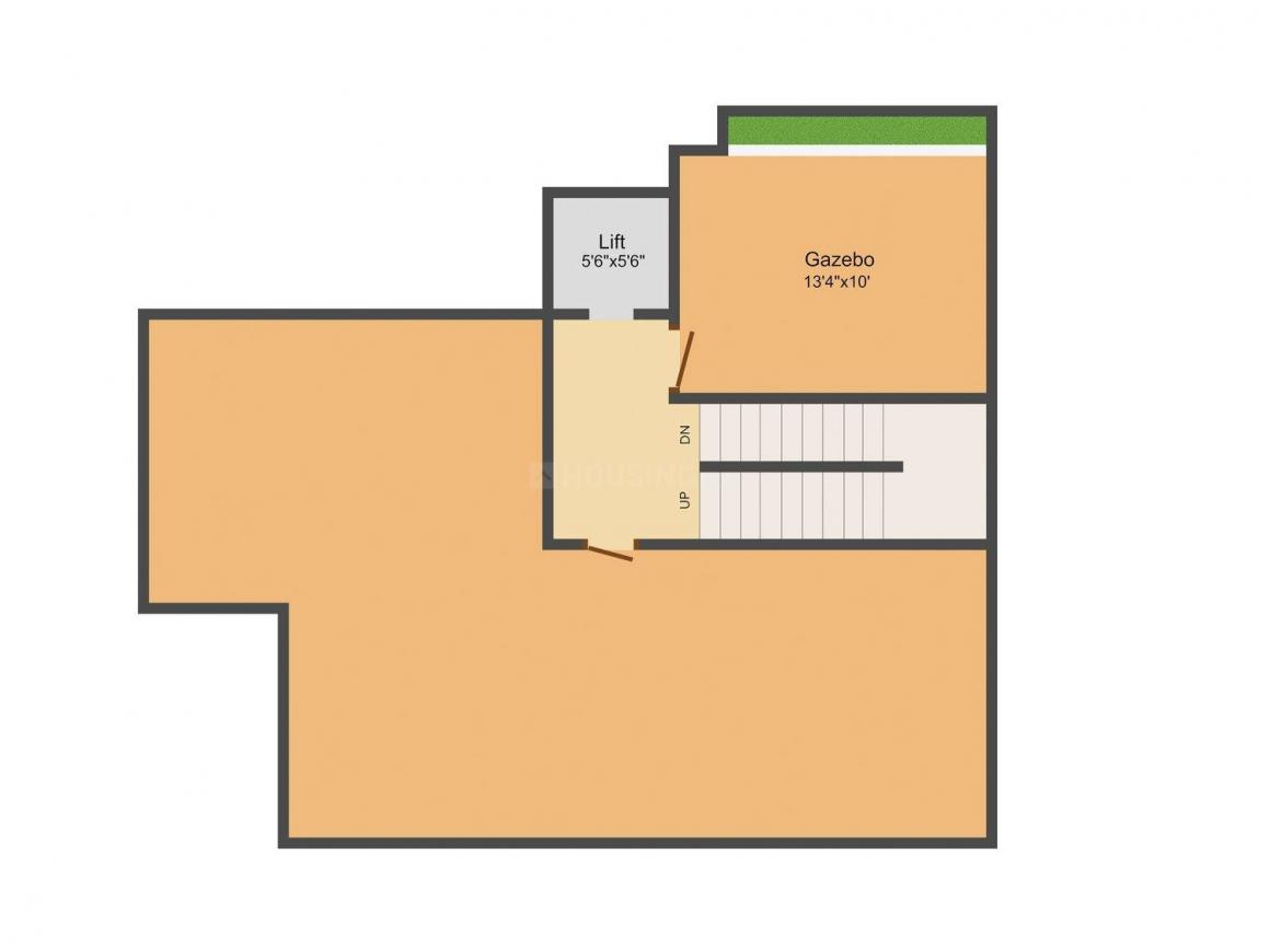 Kay Arr Egmore Villa Floor Plan: 4 BHK Unit with Built up area of 3741 sq.ft 1
