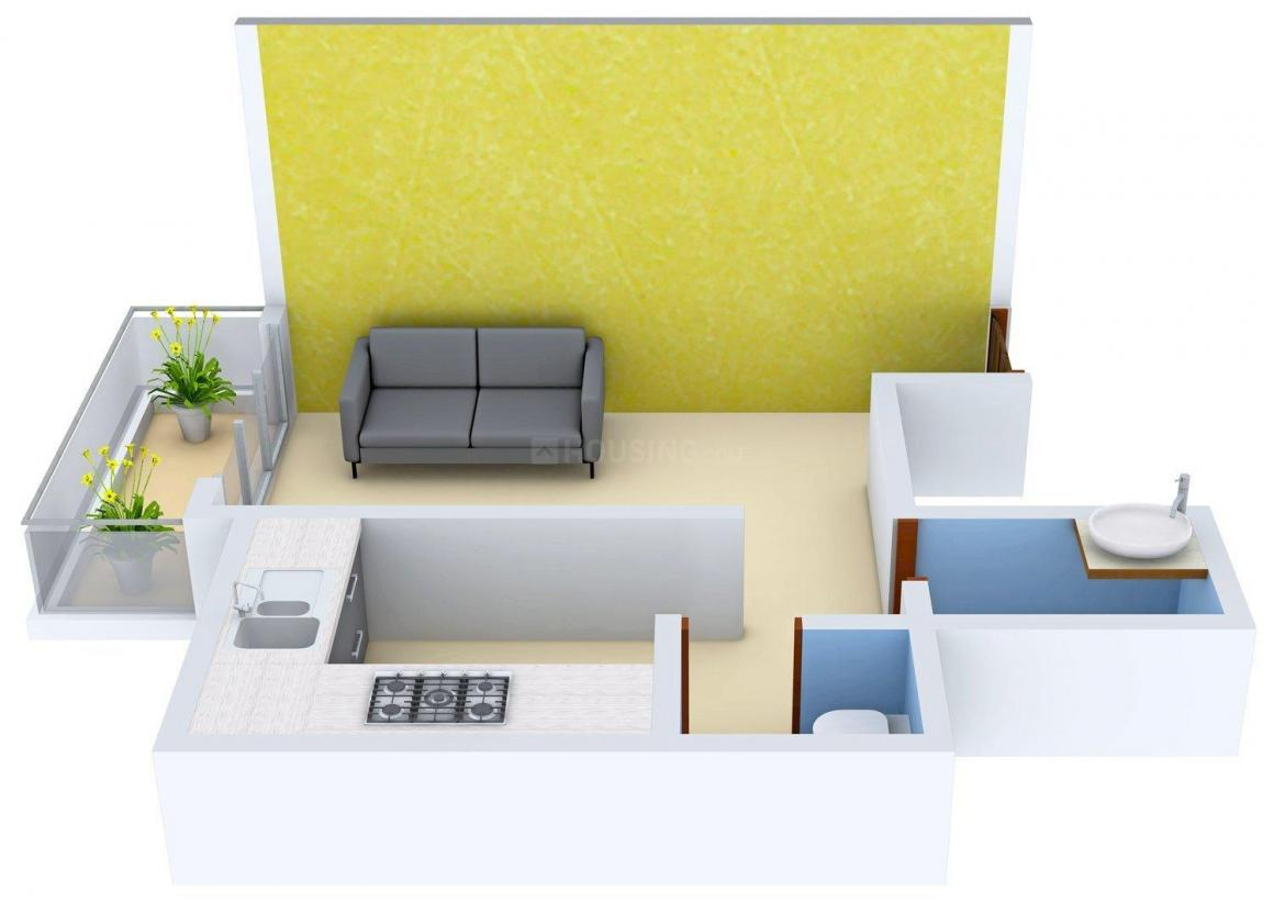 Floor Plan Image of 385.0 - 820.0 Sq.ft 1 RK Apartment for buy in Orchid Residency