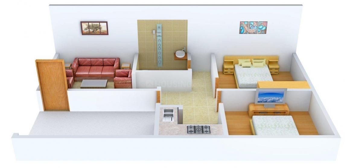 Floor Plan Image of 649 - 946 Sq.ft 2 BHK Villa for buy in Akhil Villa
