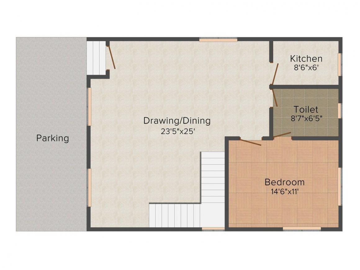 Floor Plan Image of 2029.0 - 2700.0 Sq.ft 3 BHK Villa for buy in Anupam Burul Bunglow