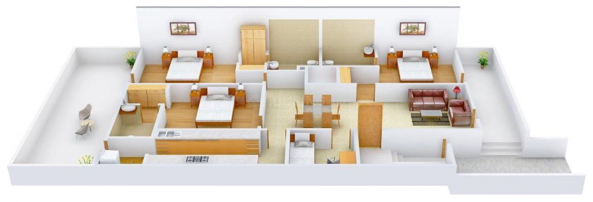 Floor Plan Image of 0 - 2700 Sq.ft 3 BHK Independent Floor for buy in Aracely Floors -6