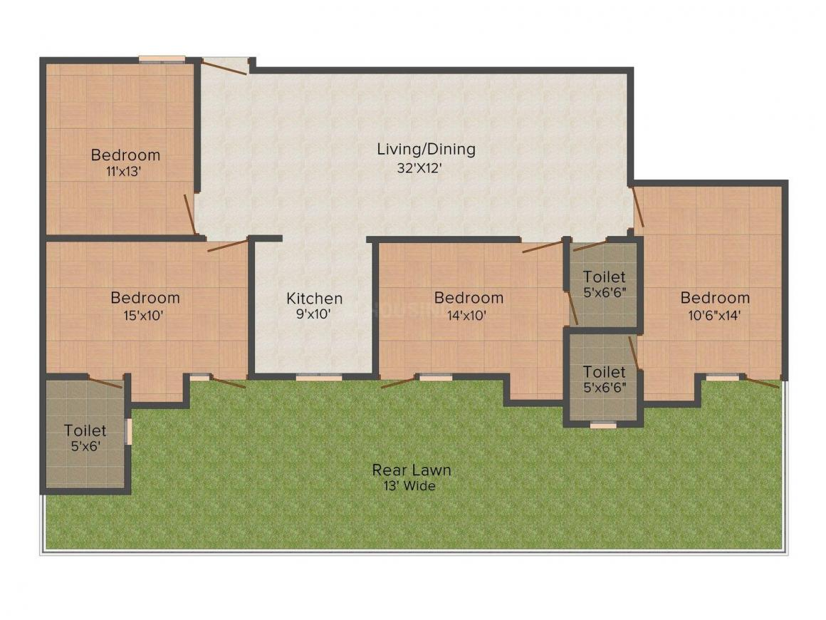 Elegant Floors - 4 Floor Plan: 4 BHK Unit with Built up area of 2000 sq.ft 1