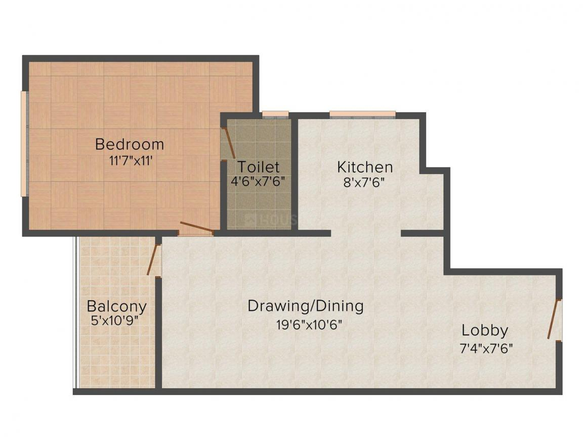 Floor Plan Image of 804 - 1603 Sq.ft 1 BHK Apartment for buy in UDB Ecoscape