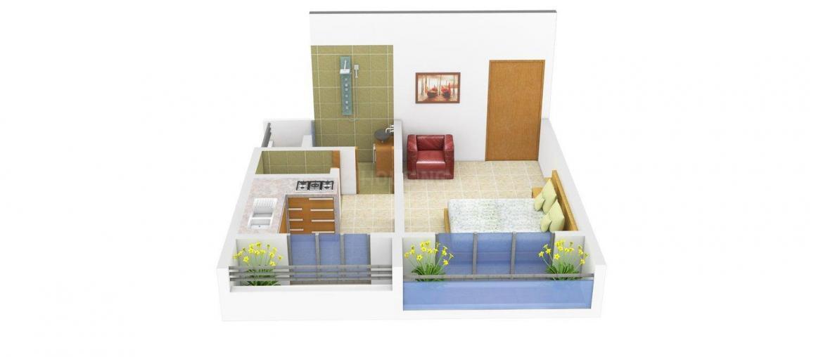 Floor Plan Image of 260 - 655 Sq.ft 1 RK Apartment for buy in Kasam Tembhi Naka