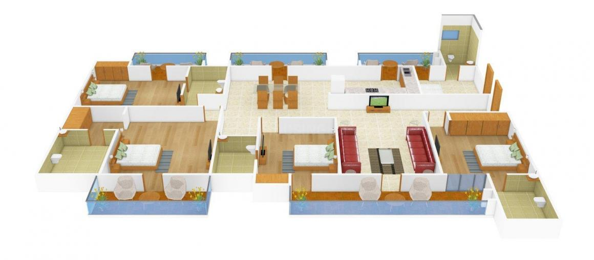 Bainsla Homes - 7 Floor Plan: 4 BHK Unit with Built up area of 2800 sq.ft 2