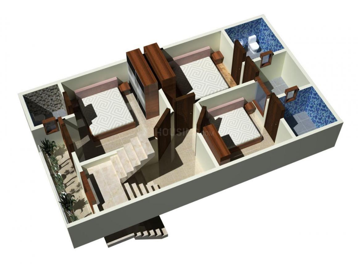 Rays North Villas Floor Plan: 3 BHK Unit with Built up area of 1200 sq.ft 1