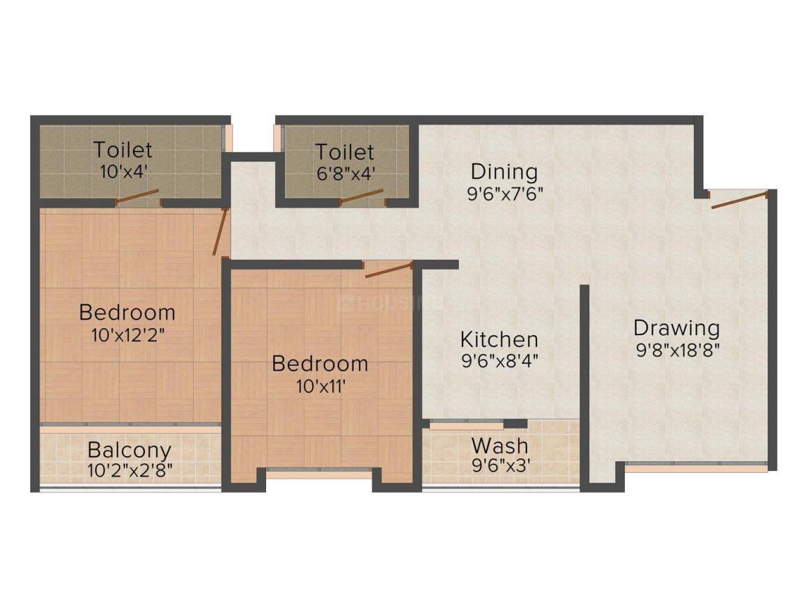 Floor Plan Image of 800 - 2492 Sq.ft 2 BHK Apartment for buy in SS Infinitus