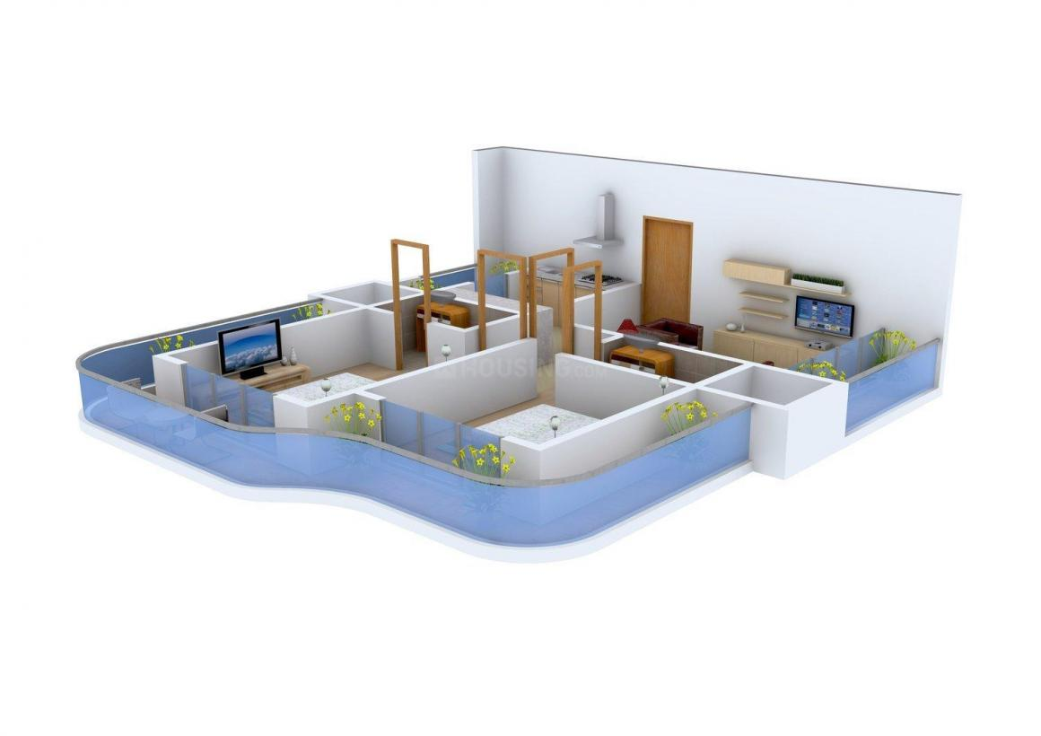 Floor Plan Image of 0 - 1070 Sq.ft 2 BHK Apartment for buy in SHDC Solitaire