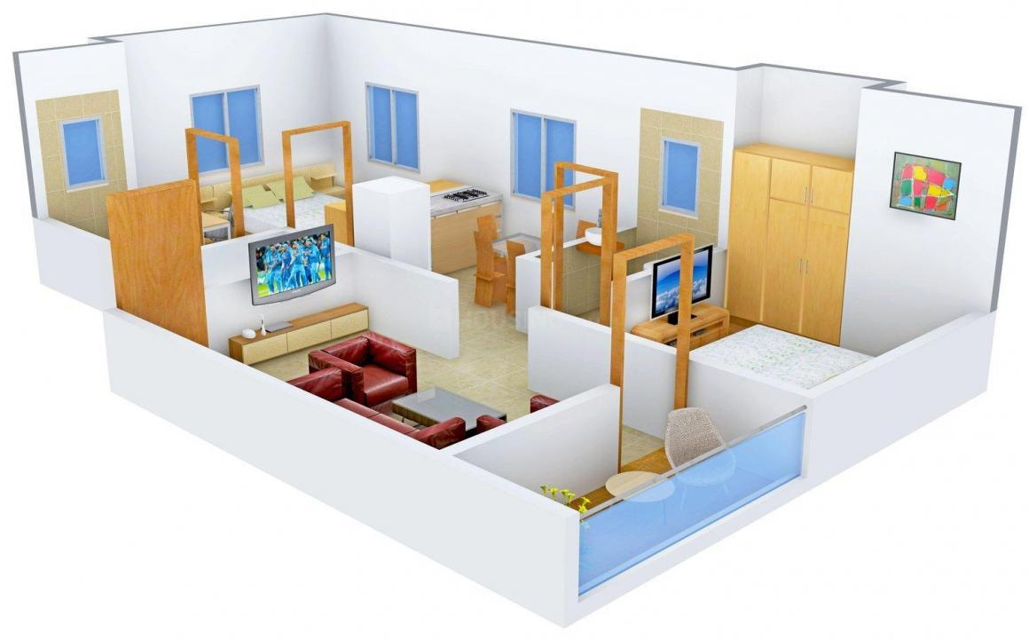 Floor Plan Image of 0 - 835 Sq.ft 2 BHK Apartment for buy in Atharva