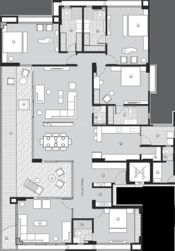 Jaydeep Alphabet Floor Plan: 4 BHK Unit with Built up area of 2624 sq.ft 1