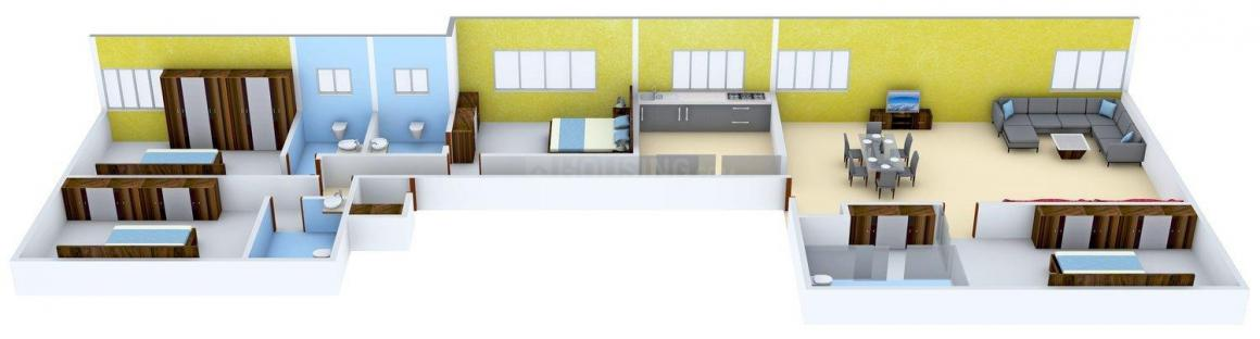 Floor Plan Image of 2160.0 - 4000.0 Sq.ft 4 BHK Penthouse for buy in L Nagpal 5th Avenue Apartments