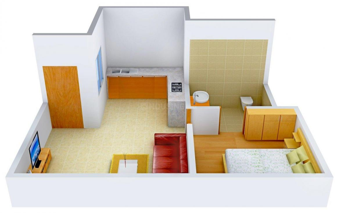 Floor Plan Image of 0 - 720.0 Sq.ft 1 BHK Apartment for buy in Ganesh Homes