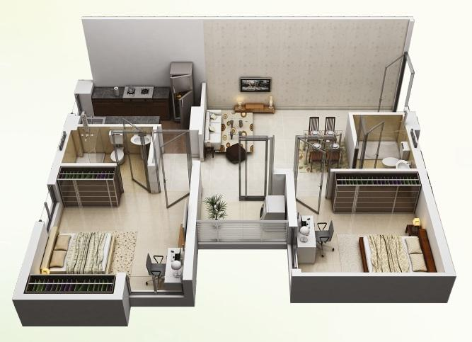 Eternis Floor Plan: 2 BHK Unit with Built up area of 823 sq.ft 1