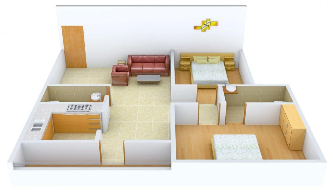 Floor Plan Image of 1085 - 1460 Sq.ft 2 BHK Apartment for buy in Siri Opel