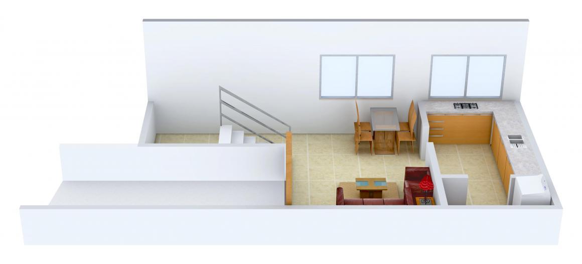 Floor Plan Image of 1105.0 - 2513.0 Sq.ft 2 BHK Villa for buy in Arham Harmony