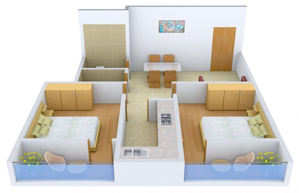 Floor Plan Image of 800 - 1435 Sq.ft 2 BHK Apartment for buy in Lakshay Apartment