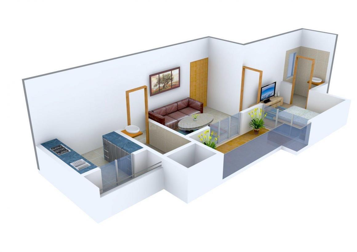 Floor Plan Image of 550 - 1192 Sq.ft 1 BHK Apartment for buy in Prathmesh Symphony
