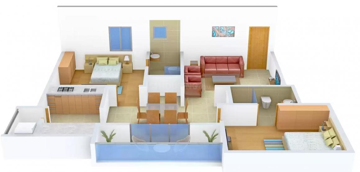 Floor Plan Image of 1025.0 - 1370.0 Sq.ft 2 BHK Apartment for buy in Sri AR Sree Guru Nandanam