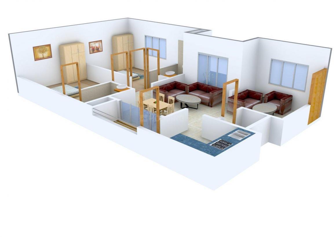 Floor Plan Image of 882.0 - 1829.0 Sq.ft 2 BHK Apartment for buy in SV Brundavanam