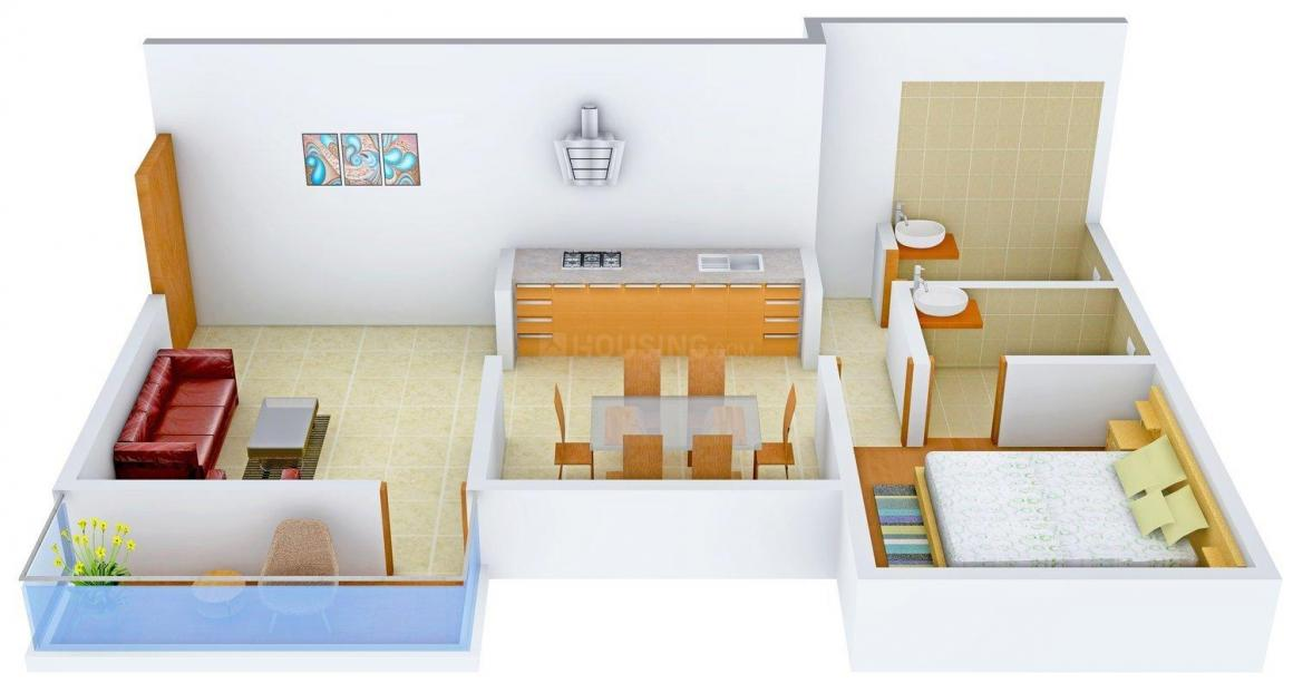 Floor Plan Image of 0 - 775 Sq.ft 1 BHK Apartment for buy in Maya's Garryson