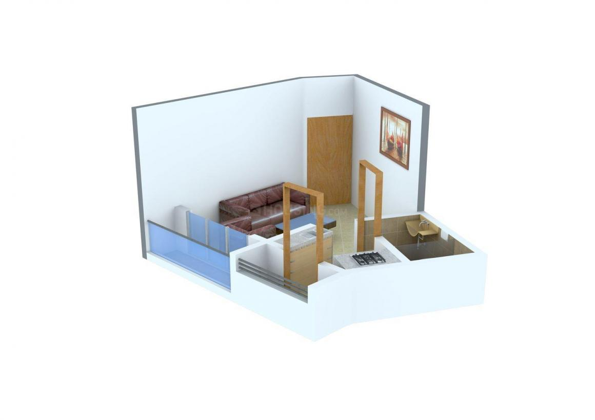 Shiv Darshan Apartment Floor Plan: 1 BHK Unit with Built up area of 335 sq.ft 1
