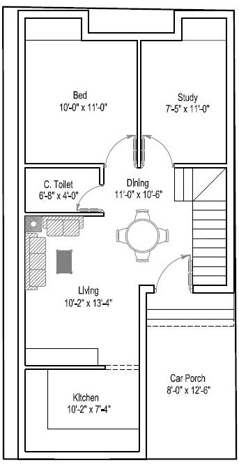 SS Square Shantham Floor Plan: 2 BHK Unit with Built up area of 675 sq.ft 1