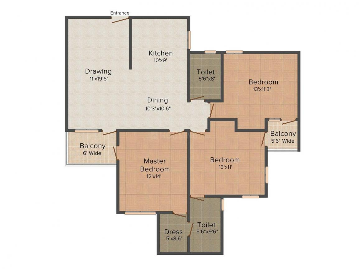 Floor Plan Image of 880.0 - 1467.0 Sq.ft 2 BHK Apartment for buy in Varsha Heights