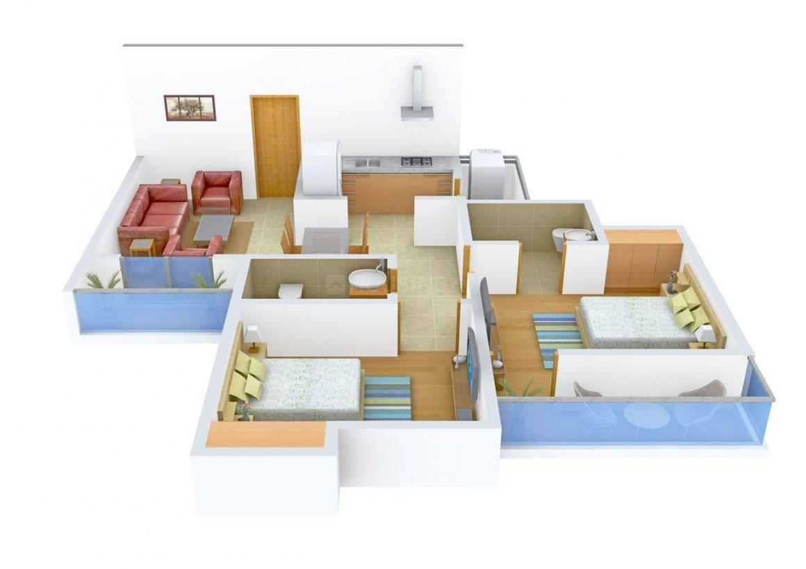 Floor Plan Image of 1130 - 1485 Sq.ft 2 BHK Apartment for buy in Sunshine Imperial Greens