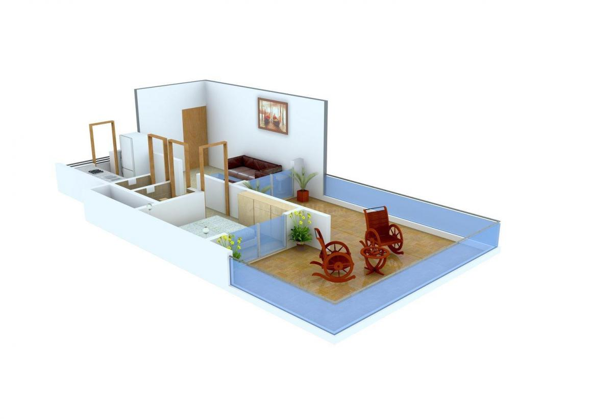 Floor Plan Image of 0 - 615 Sq.ft 1 BHK Apartment for buy in SR SM Plaza