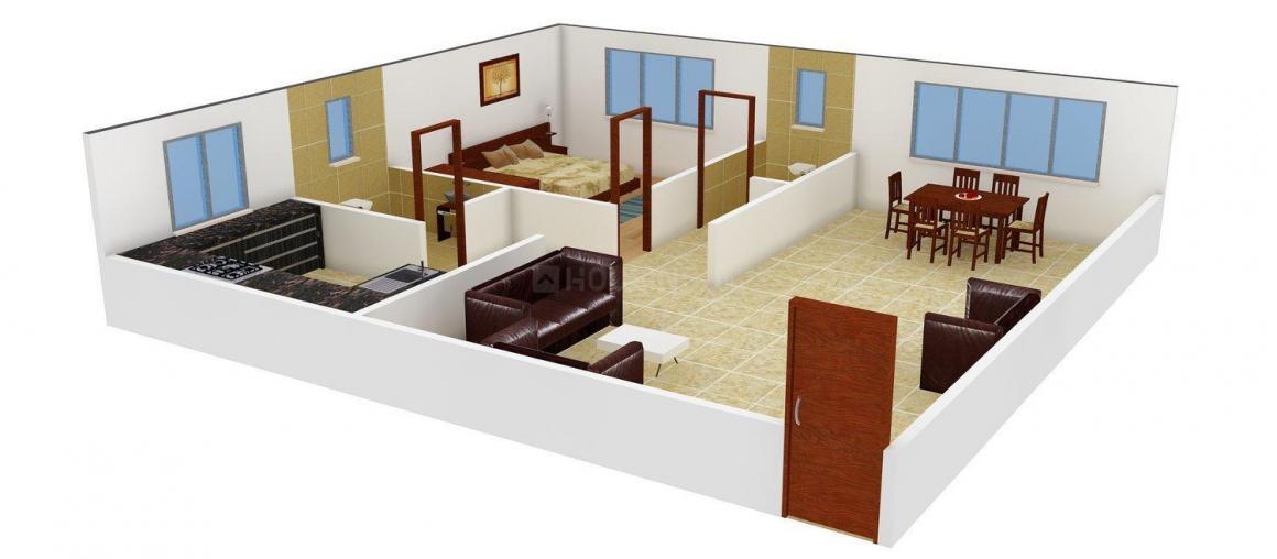 Floor Plan Image of 0 - 455 Sq.ft 1 BHK Apartment for buy in Blue Sky Residency