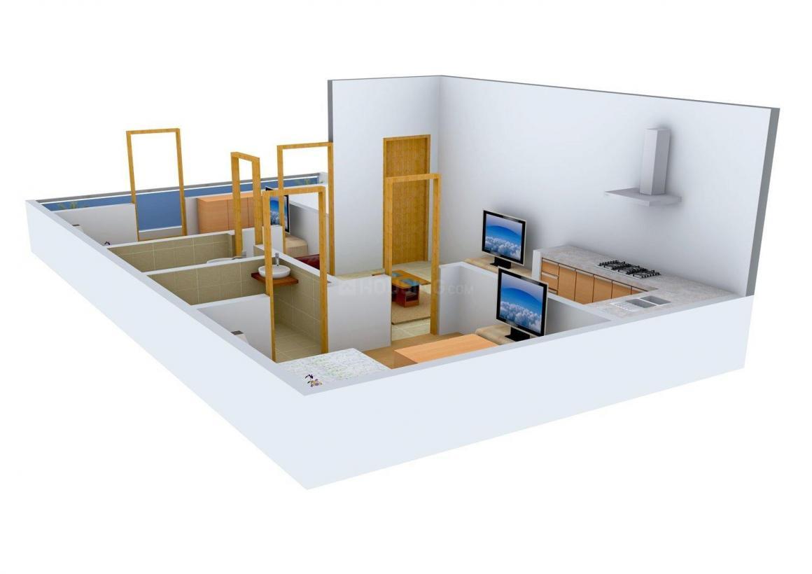 Floor Plan Image of 0 - 540 Sq.ft 2 BHK Independent Floor for buy in Dev Homes 3