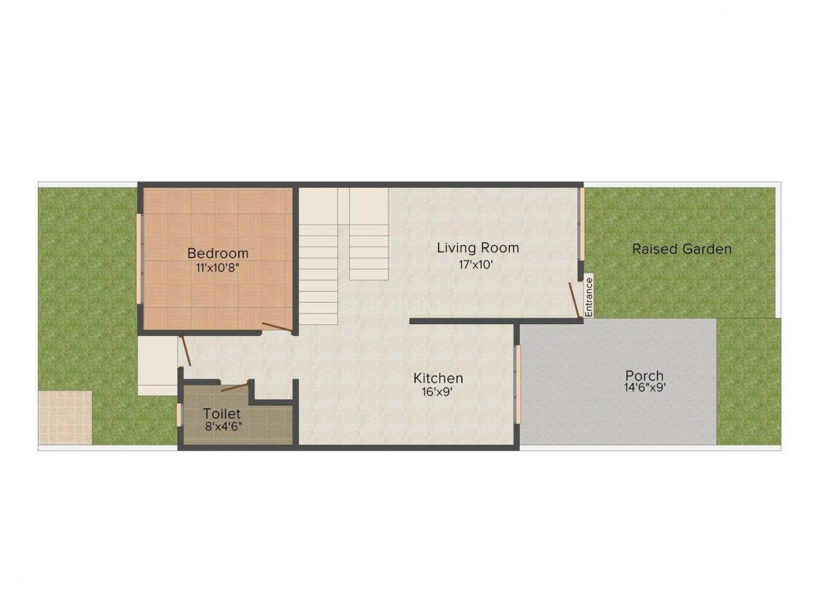 Floor Plan Image of 1415 - 1465 Sq.ft 3 BHK Bungalow for buy in Thakkers Richmond Bungalows
