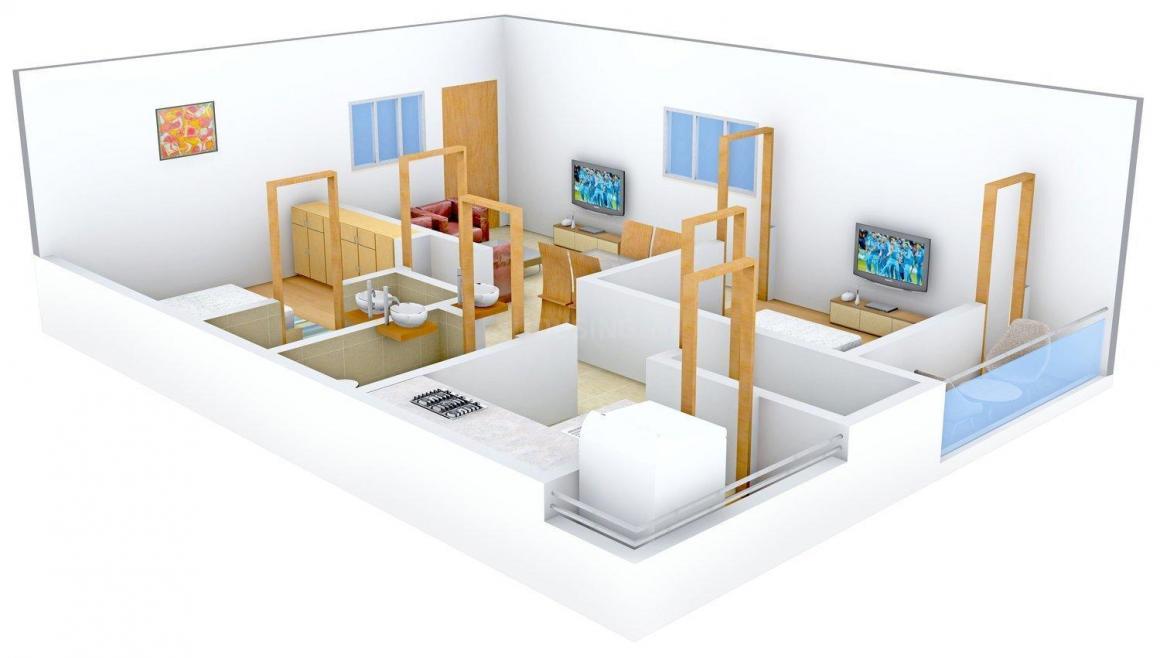 Floor Plan Image of 0 - 905.0 Sq.ft 2 BHK Apartment for buy in Nice Lavanya Residency