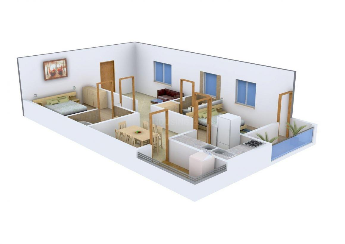 Floor Plan Image of 0 - 1115.0 Sq.ft 2 BHK Apartment for buy in Madhu Shiridi Sai Icon