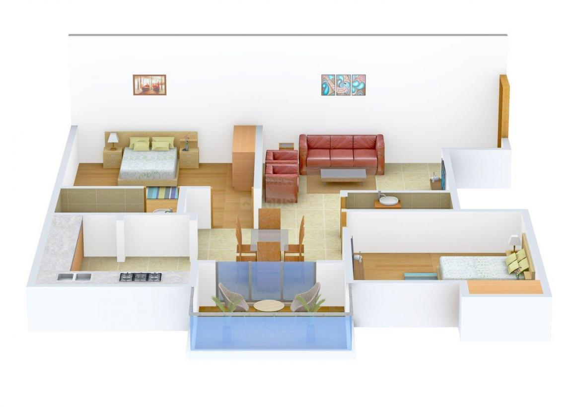 Floor Plan Image of 0 - 1031.0 Sq.ft 2 BHK Apartment for buy in Shirdi Whitefield Grand