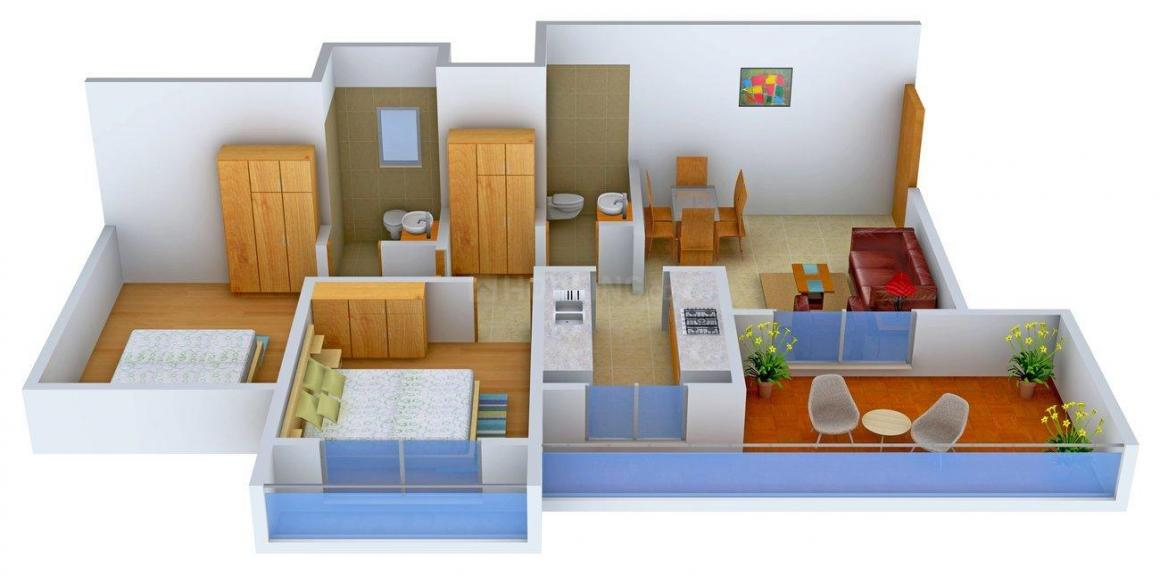 Floor Plan Image of 620 - 850 Sq.ft 1 BHK Apartment for buy in Virat Residency II