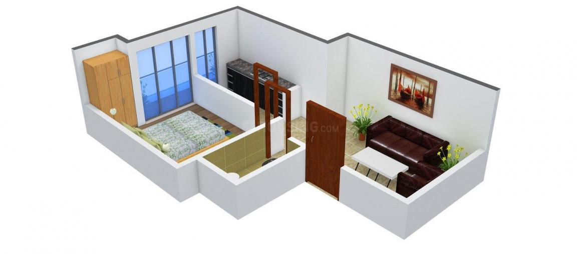 Perfect Homes Floor Plan: 1 BHK Unit with Built up area of 450 sq.ft 1