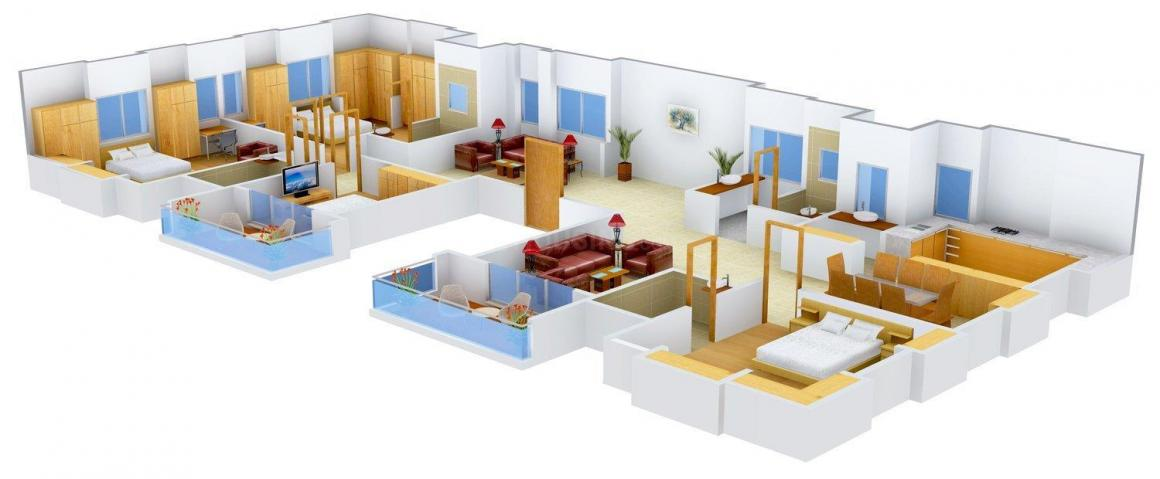 Surana Vrind Floor Plan: 4 BHK Unit with Built up area of 2628 sq.ft 1