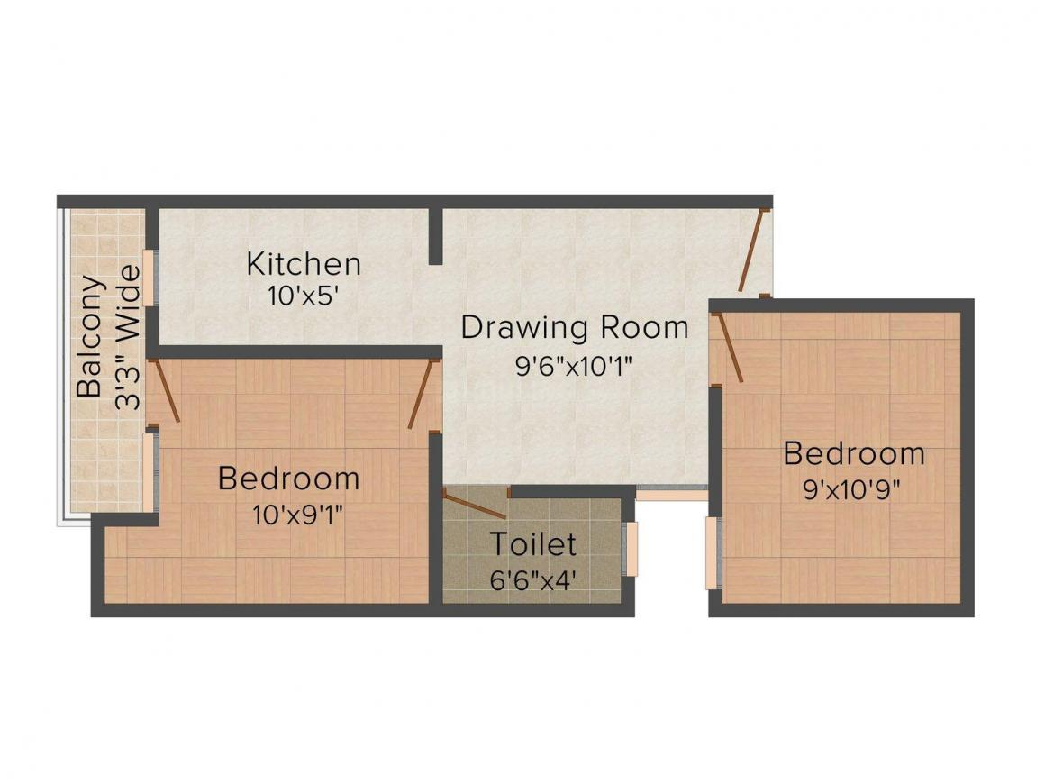 Anshika Apartments 11 Floor Plan: 2 BHK Unit with Built up area of 450 sq.ft 1
