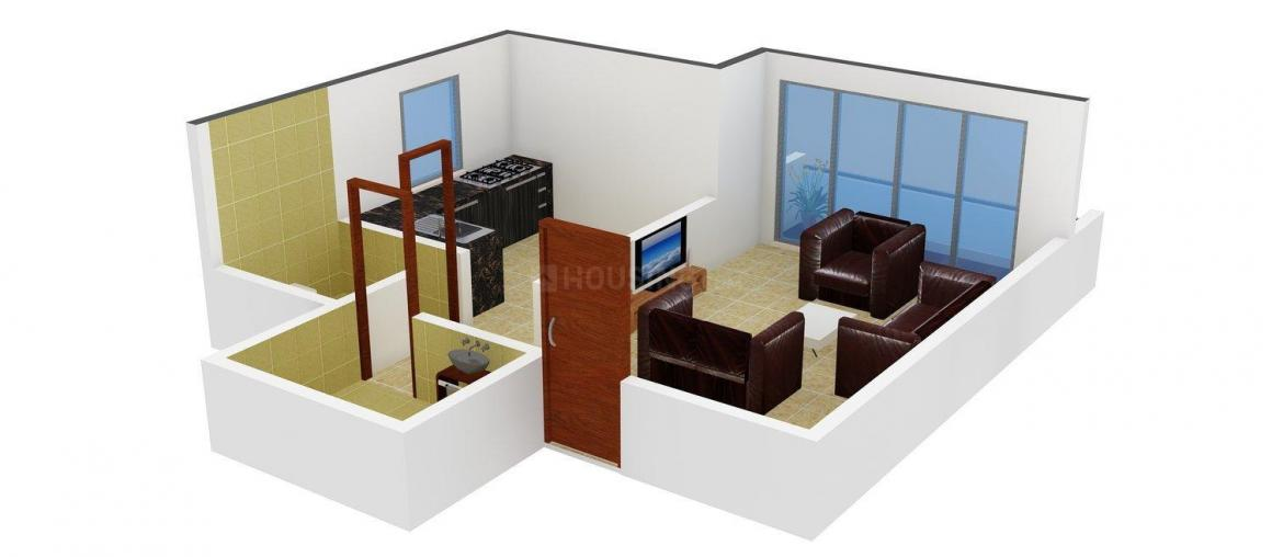 Floor Plan Image of 280.0 - 422.0 Sq.ft 1 RK Apartment for buy in Om Sai Krupa