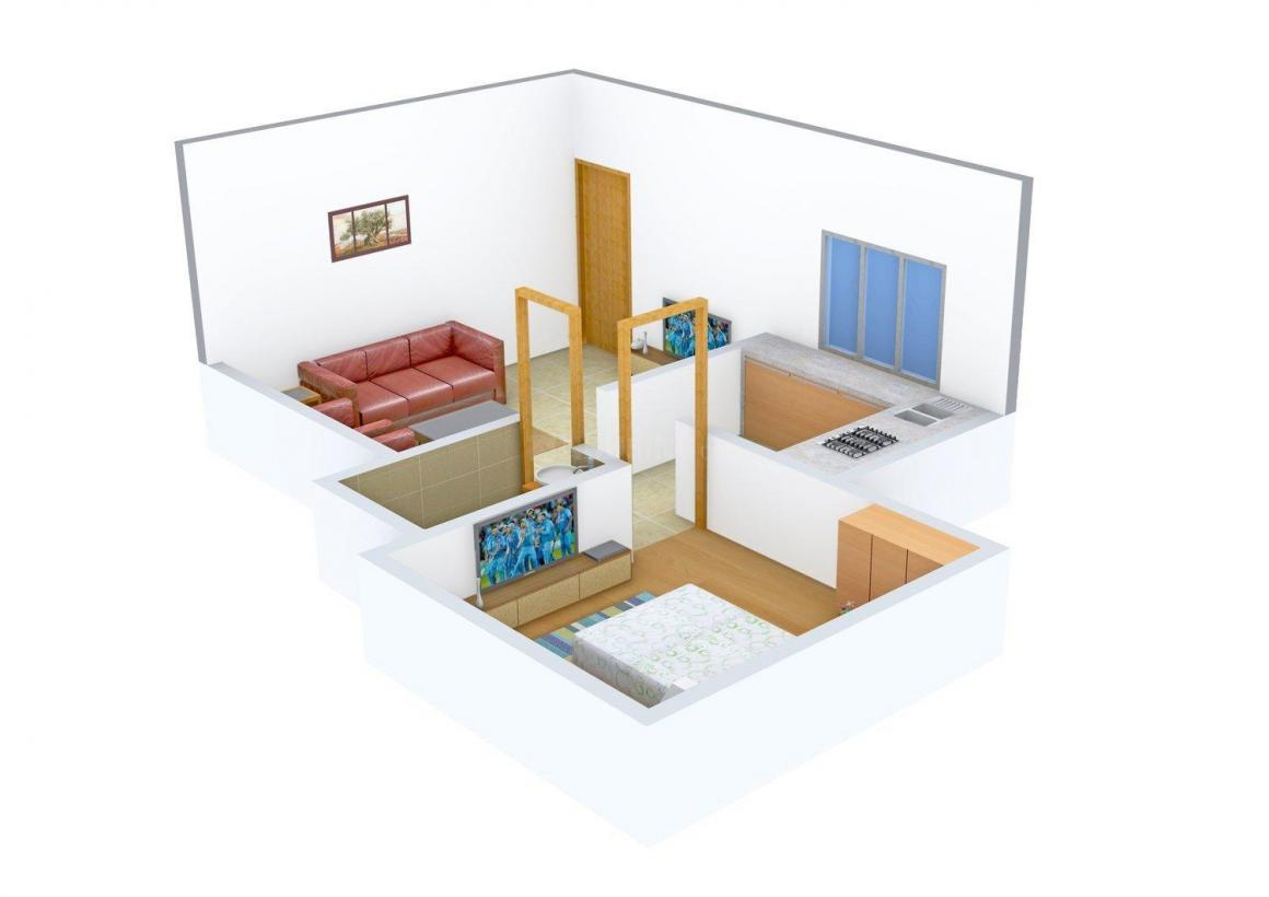 Floor Plan Image of 360 - 590 Sq.ft 1 BHK Apartment for buy in VK Ankur CHSL
