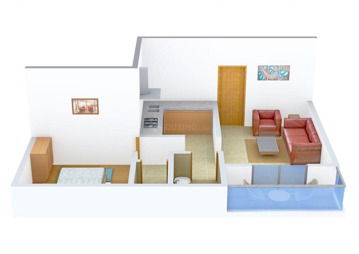 Floor Plan Image of 505.0 - 530.0 Sq.ft 1 BHK Apartment for buy in Maheshwar Apartment