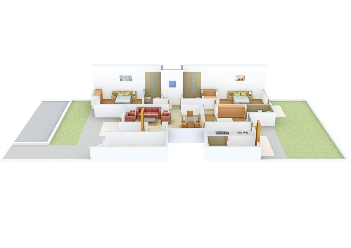Floor Plan Image of 0 - 1575.0 Sq.ft 3 BHK Independent Floor for buy in Tannu homes - 2
