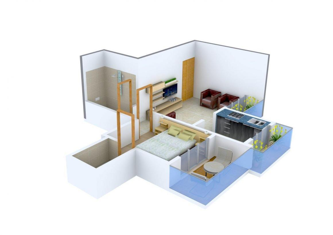 Floor Plan Image of 380.0 - 800.0 Sq.ft 1 BHK Apartment for buy in Zorba KK Landmark