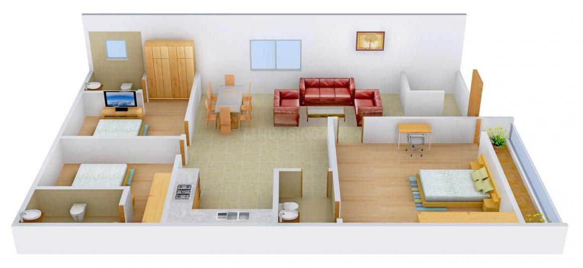 Floor Plan Image of 0 - 1800 Sq.ft 3 BHK Independent Floor for buy in Satyam Apartment - 204