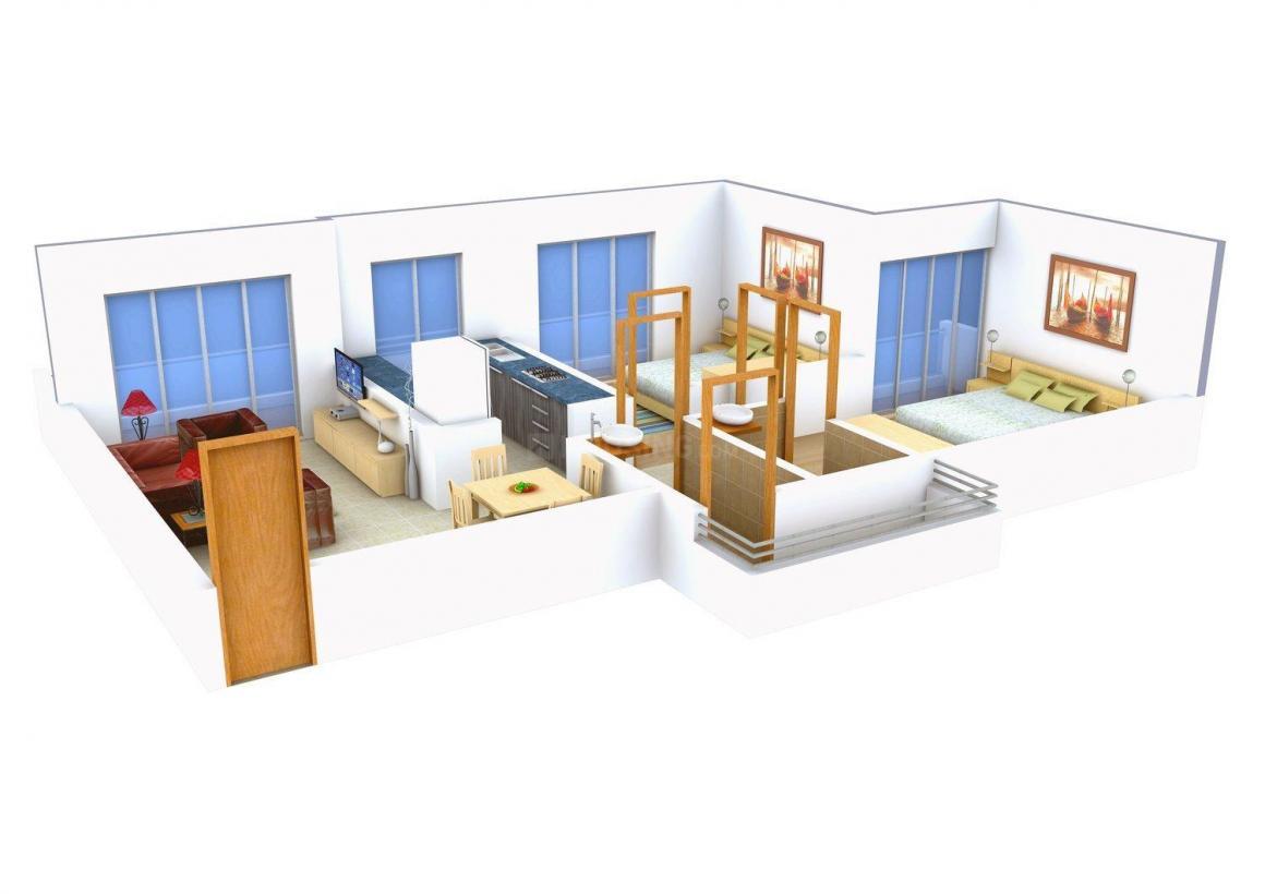 Floor Plan Image of 610.0 - 885.0 Sq.ft 1 BHK Apartment for buy in Arvind Victory Guru Purnima
