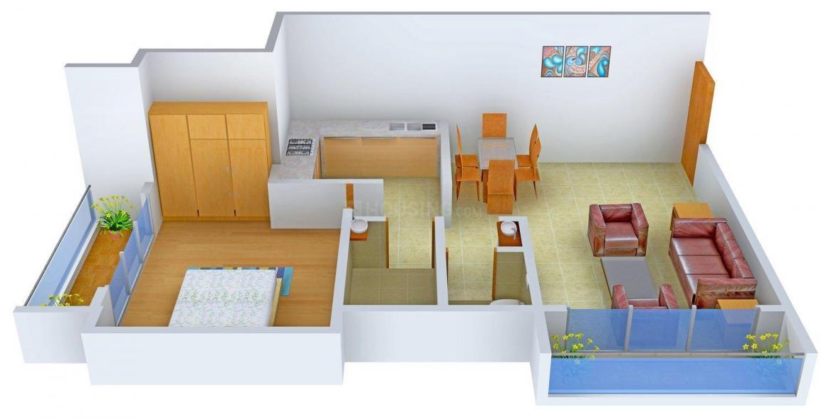 Floor Plan Image of 0 - 500.0 Sq.ft 1 BHK Apartment for buy in Sambhav Vama