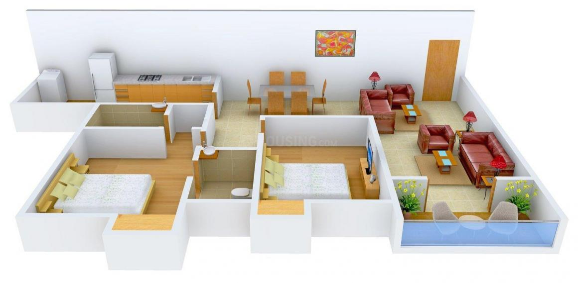 Floor Plan Image of 1362 - 1772 Sq.ft 2 BHK Apartment for buy in Olive Cressida