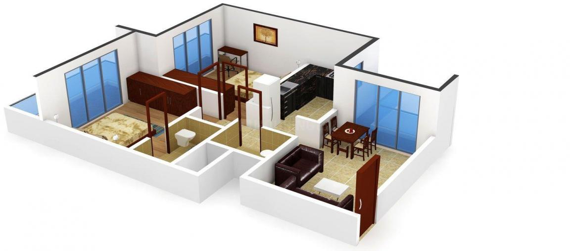 Floor Plan Image of 950.0 - 978.0 Sq.ft 2 BHK Apartment for buy in Indu Realty Nivaan Gianna