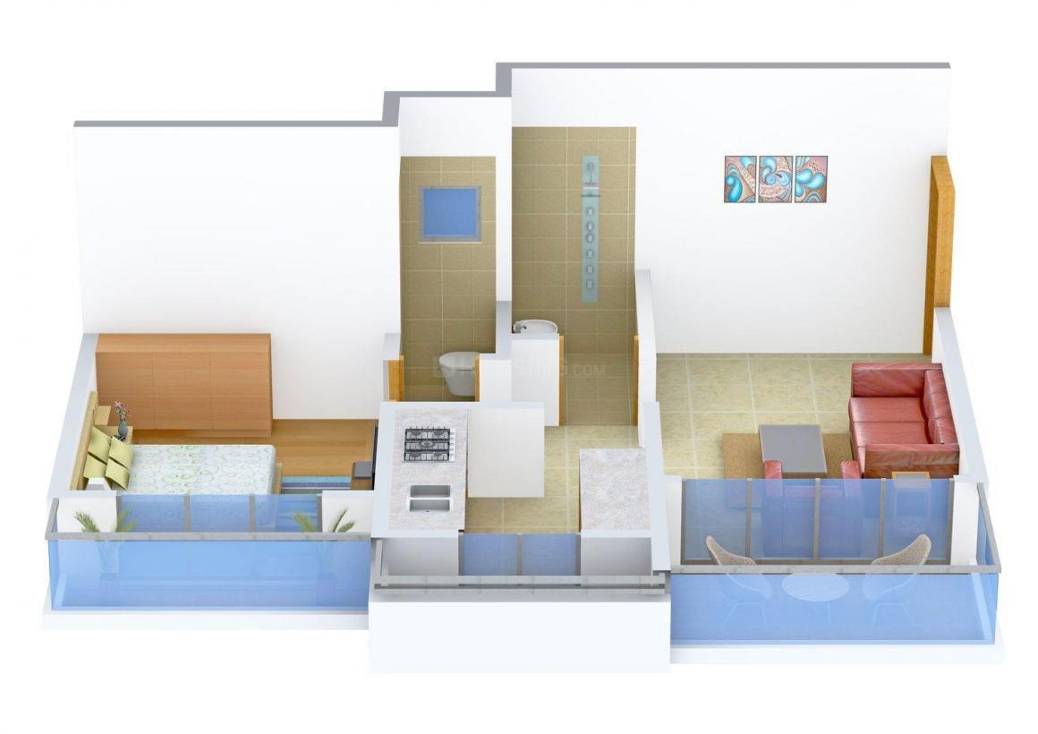 Floor Plan Image of 685.0 - 945.0 Sq.ft 1 BHK Apartment for buy in Royce Vaishnavi Heights